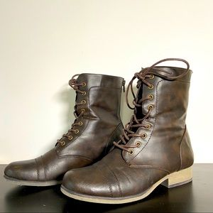Steve Madden   Brown Leather Combat Boots 37